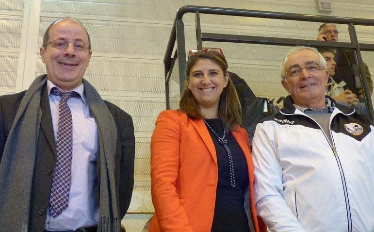 Sandrine Chaix Conseillère Région AURA entourée de Pascal Merlin et Paul Perez Dahus d'Arbent