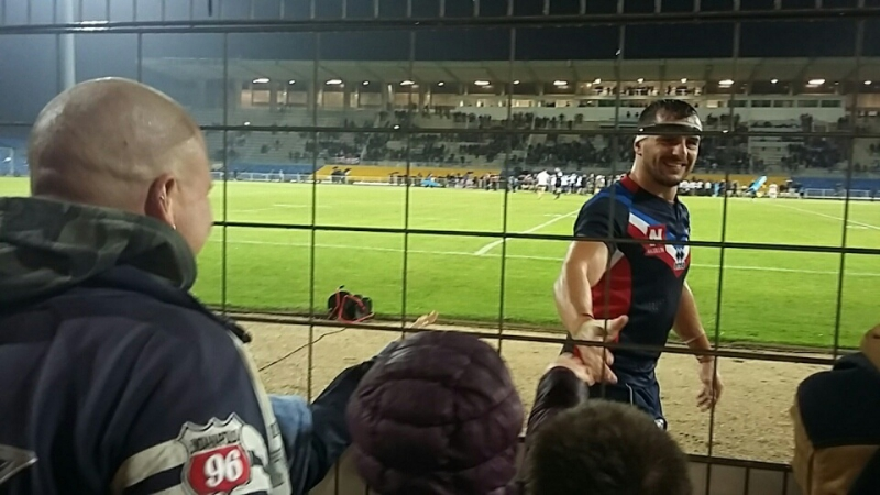 Vincent Duport venu remercier les supporterss